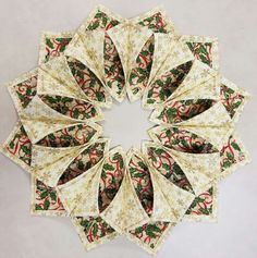 The Inspired Quilter: Fold'n Stitch Wreath Shortcut Tutorial
