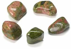 Unakite ~ Promotes self love, helps promote clarity.  Unblocks energy centres in the body.