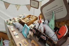 signage and table cloth match, nice! Renegade Craft Fair London #craft stall #booth