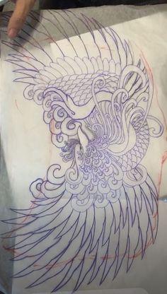 Chest Tattoo Drawings, Tattoo Japanese Style, Phoenix Tattoo Design, Irezumi, Tattoo Designs, Oriental, Dragon, Tattoo, Tatoo