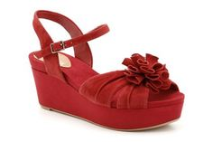 Womens Smart Sandals - Onslow Dance in Cherry Suede from Clarks shoes