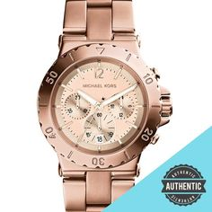 OFF Michael Kors Quartz Rose gold Round Dial Rose gold Band - Women's Watch Gold Watch, Quartz, Rose Gold, Michael Kors, Watches, Band, Accessories, Fashion, Moda