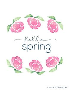 "Free ""Hello Spring"" Printable Design via Live Craft Love"
