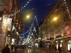 Christmas street in Helsinki