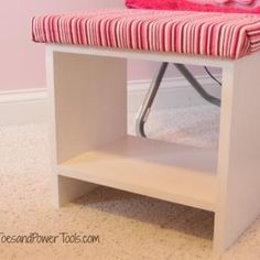 How to build a simple, scrap wood upholstered footstool Diy Footstool, Upholstered Footstool, Ottoman, Woodworking Table Plans, Woodworking Joints, Youtube Woodworking, Woodworking Videos, Reupholster Furniture, Diy Furniture