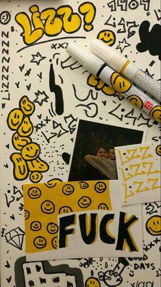 Graffiti Writing, Graffiti Tagging, Graffiti Lettering, Graffiti Art, Art Sketches, Art Drawings, Hippie Art, Art Sketchbook, Diy Art