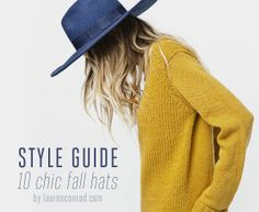 style guide: 10 chic and affordable fall hats.