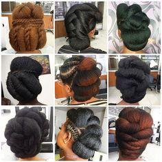Natural Bridal Hair, Natural Wedding Hairstyles, Natural Hair Updo, Box Braids Hairstyles, Protective Hairstyles, Protective Styles, Black Pin Up, Beyonce Blonde, Hair Cuffs
