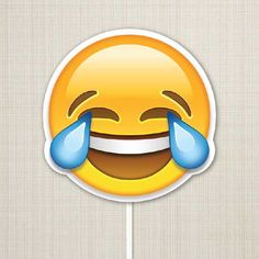 Placa Emoji Chorei de Rir