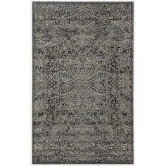 This charcoal and jet black abstract area rug brings a sense of sophistication and mystique to any indoor living space. The synthetic fibers make this rug easy to clean and very durable. The intricate, illusory design creates a fabulous focal point.