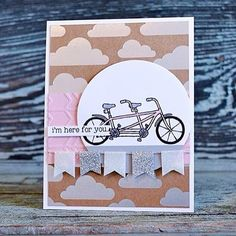 Last day of #stampinup #saleAbration today! This is your last chance to shop and get free limited edition stamp sets or join and get $295 in products of your choice! This gorgeous pink bike card was made by Allison from @nicepeoplestamp Allison is part of the Global Artisan Team. Visit the shop via link in bio to find out more or message for details