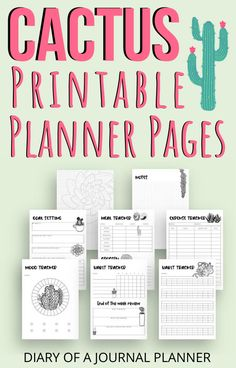 Have next months planner sorted with these genius printable cactus themed planner pages! #planneraddict #cactus #cactusdoodles #plannerpages #printables #bulletjournalprintables Daily Planner Pages, Printable Planner Pages, Bullet Journal Printables, Daily Planners, Personal Planners, Planner Template, Templates Printable Free, Monthly Planner, Bujo