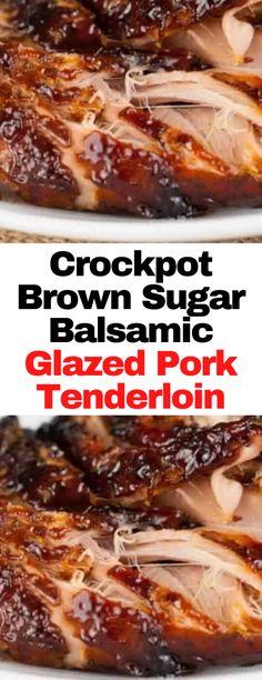 Pork Tenderloin Recipes, Roast Recipes, Slow Cooker Recipes, Crockpot Recipes, Cooking Recipes, Pork Loin, Pork Roast, Crockpot Dishes, Crock Pot Cooking