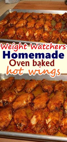 The great thing about these Crispy Baked Chicken Wings is you can control the amount of heat but adding more or less hot sauce. I've made chicken wings before, but I've never been able to perfect the crispiness until now. Skinny Recipes, Ww Recipes, Cooking Recipes, Chicken Wing Sauces, Chicken Wing Recipes, Keto Chicken, Weight Watchers Chicken, Weight Watchers Meals, Crispy Baked Chicken Wings
