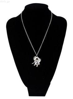 "Vintage Silver Cute Elephant Animal Pendant 20""Necklace Chain"