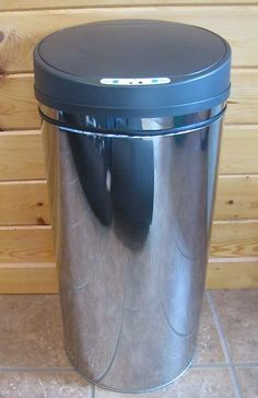 new automatic touchless trash can 13 gallon stainless steel kitchen garbage bin ebay
