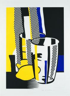 """""""Devant le miroir"""" (1975). Extrait de la série """"Miroirs de l'esprit"""", lithographie et sérigraphie avec gaufrage sur rouleau de papier BFK Rives, 108,6 x 81,2 cm."""