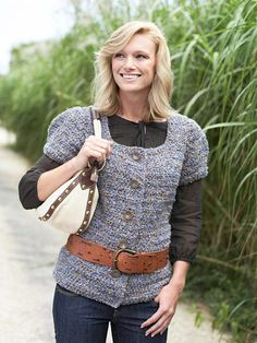 Create your own trendy puff-sleeve jacket with these free crochet instructions and patterns.