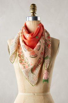 Melon Print Silk Scarf - anthropologie.com #anthroregistry