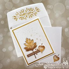 I really love how the Ornamental Envelopes Bundle dresses up our envelopes! My card for the Paper Craft Crew Sketch Challenge #PCC387 uses the Love of Leaves Bundle. Fall Cards, How To Better Yourself, Paper Crafts, Stampin Up Cards, I Card, Envelope, Challenges, Image C, Holiday