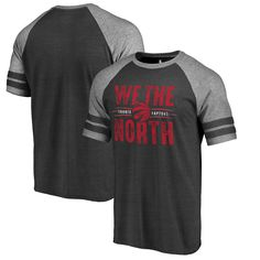 fc9e88e28e59 Toronto Raptors Fanatics Branded We the North Hometown Collection Raglan  Tri-Blend T-Shirt - Black