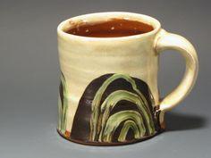 Coffee or Tea Mug Handmade Green Swags by RonPhilbeckPottery, $28.00