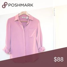 Silk Shirt 100% silk vintage shirt; durable and soft; excellent condition Tops