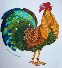 Millie Marotta Rooster