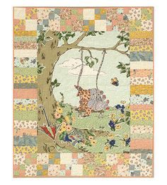 Easy Panel Quilt :: I'd love to do this with Winnie the Pooh