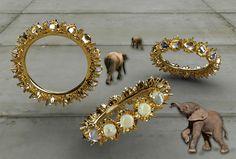 moonstone eternity band (in progress) with elephants