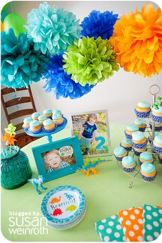 Party - poms for above the dessert or food tables???