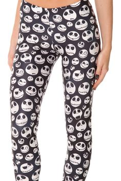 Jack Skellington Leggings (WW $85AUD / US $80USD) by Black Milk Clothing (Sold)