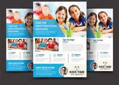 Kids Education Flyer by AfzaalGraphics on @creativemarket