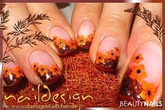 French Tip Nail Designs, French Tip Nails, Fall Nail Designs, Fall Nail Art, Autumn Nails, Gel Nagel Design, Cute Gel Nails, Extreme Makeup, Fancy Makeup