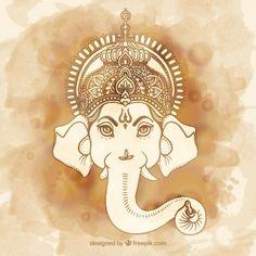 Pintados à mão Ganesha                                                       …