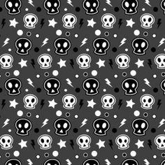 Funky skulls to draw