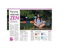 Matéria sobre meditação publicada no Popular de 13 de abril de 2016
