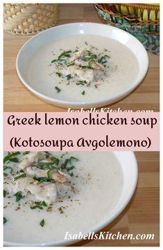 Greek Lemon Chicken Soup, Lemon Soup, Cooking Recipes, Healthy Recipes, Salad Recipes, Hot Soup, International Recipes, Soup And Salad, Soul Food
