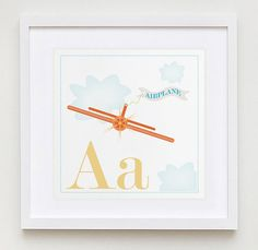 Aa is for Airplane Alphabet Print by Modernpop by ModernPOP