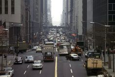 A view of New York City's East 42nd Street, looking toward the west, in November of 1965.