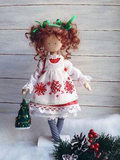 Купить Интерьерная кукла Снегурочка - снегурочка, новый год 2017, Новый Год, рождество, подарок