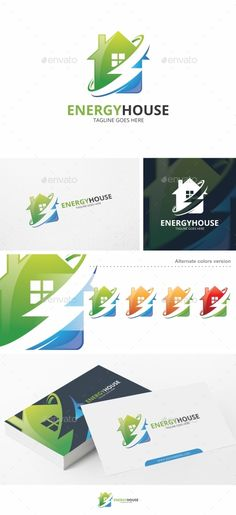 Energy House - Logo Template Vector EPS, AI. Download here: http://graphicriver.net/item/energy-house-logo-template/14733922?ref=ksioks