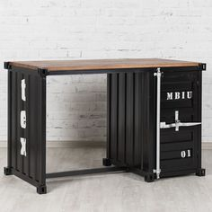 kommode schrank container industrie design shabby metall optik vintage schwarz m bel. Black Bedroom Furniture Sets. Home Design Ideas