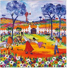 Medium Prints A range of medium sized images, printed in full colour by lithographic process. Quirky Art, Whimsical Art, Contemporary Decorative Art, African Paintings, West Art, South African Artists, Africa Art, Button Art, Naive Art