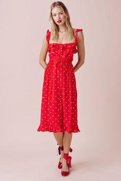red dot summer dress