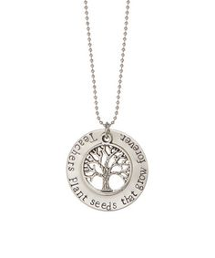 Another great find on #zulily! Stainless Steel 'Teachers Plant Seeds' Pendant Necklace #zulilyfinds