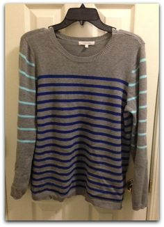 Love this color combo on this lizzy colorblock sweater