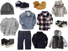 My kind of style for boy clothes :) City Threads, Gap, adidas, Minnetonka, Ralph Lauren