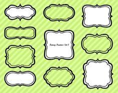 Fancy Frames 1 - Luvly Marketplace | Premium Design Resources #clipart #frames #boarder