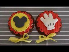 Pirulito De Chocolate Oreo- Doces Para Festa Mickey - YouTube